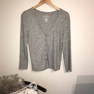 American eagle Gray button down cardigan large L